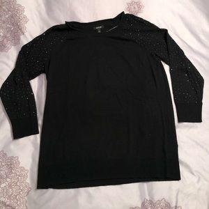 Apt 9 embellished 3/4 sleeve sweater